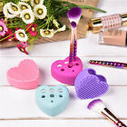 Silicone Makeup Brush Cleaner Pad Washing Board Cleaning Mat Brush Holder Tool