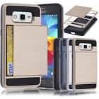 Card Pocket Slide Case Hybird Wallet Cover for Samsung Galaxy Grand Prime G530