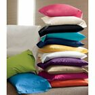 HAPPY CHRISTMAS DEAL!!! 2PC PILLOWCASES 100% COTTON 400 TC SOLID ALL SIZES  image