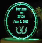 Personalized Western Wedding Cake Topper Lucky Horseshoes Cake Topper Opt LED