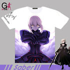 Fate Grand Order Saber Alter Unisex T-shirt Short Sleeve Tee Cosplay#5L-Z287
