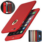 360° Full Cover Ultra-thin Hybrid Hard Case + Tempered Glass For iPhone 6 7 Plus