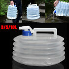 3L 5L 10L Collapsible Water Carrier Container Camping Outdoor Storage & Handle