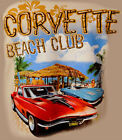 Corvette Vette Stingray Beach Club Tee Shirt T-Shirt Chevrolet Chevy