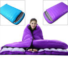 Bright Blue/Purple Outdoor Camping Ultralight Double Down Feather Sleeping Bag