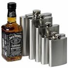 4 6 8 10 18oz Hip Flask Stainless Steel Pocket Drink Whisky Flasks