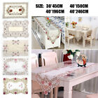 Table Runner Cloth Embroidered Floral Lace Fabric Translucent Gauze Home Decor