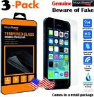 urban armor gear iphone 5 case - 3х Premium Real Tempered Glass Screen Protector Made For Case iPhone 5 5S SE