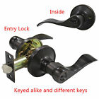 Probrico Entry Locks Oil Rubbed Bronze Lever Door Knob Keyed ALIKE or Different
