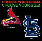 "5"" 10"" 15"" 20"" 30"" 40"" 50"" St. Louis Cardinals Car Truck Window Decal Sticker"