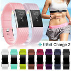 Replacement Soft Silicone Strap Adjustable Sport Wristband For Fitbit Charge 2