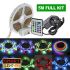 5M 300 LED RGB SMD Light Strip Tape 12V+ Remote Control + Adapter Kit XMAS Party