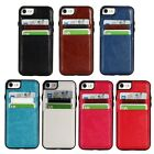 Premium Slim hybrid TPU & Leather Case Skin Cover with 2 card holder for phone