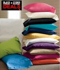 BLACK FRIDAY SALE!!! LONG LASTING 2PC BED PILLOWCASES 100% COTTON SOLID image