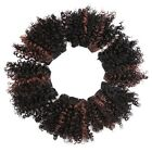 6pcs/pack Sew In Full Head Ombre Hair Weave Bloom Curly Synthetic Hair Extension