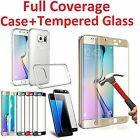 Full Cover Tempered Glass Screen Protector for Galaxy S6/S7 Edge S8 S8Plus New