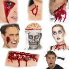 Halloween Scars Wounds Accessory - Zip Scar Gory Wound Vampire Bite Brain Blood