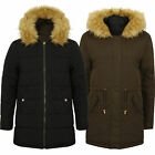 ladies parka jacket womens Tokyo Laundry reversible coat padded hood fur winter
