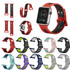 Replacement Soft Silicone Sport Bracelet Band Strap For Apple Watch 38mm 42mm