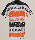 Vintage 90's NFL Chicago BEARS JOSTENS T-Shirt All-Over PRINT NWT New Old Stock