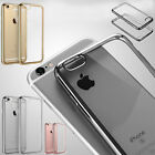 New Slim Clear Soft Silicone TPU Rubber Plating Design Case Cover For iPhone