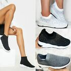 New Womens Ladies Sneakers Trainers Sock Runners Comfy Speed Knit Gym Shoes Size