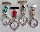 Pretty Charm Beaded Fobwatch for Nurses Care workers, Beauticians, Vets