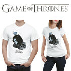 Game of thrones inspired men/women T-shirt King in the North, Fire and Blood