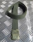 "Military Style 1"" Roll buckle Canvas Web Belt Silver or Brass buckle All Colours"