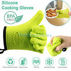 1/2/4 Silicone Cooking Kitchen Gloves Heat Resistant Oven Mitt for Grilling BBQ