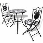 Mosaic Bistro Table 60 cm with 2 Chairs Outdoor Garden Patio Set 4 Patterns✓