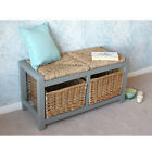Practical Gloucester 2 Basket Drawer Storage Bench - Grey or Off White