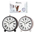 Ravel Contemporary Quartz Silent Sweep Alarm Clock RC014 SILVER & BLACK Colour