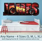 Childrens Name Wall Stickers Art Personalised Disney Cars Lightning McQueen Boys