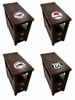 FC366 THEMED GAS LOGO ESPRESSO CAPPUCCINO WOOD ACCENT SIDE END TABLE NIGHTSTAND