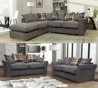 **Brand New Fable Large Corner Sofa Scatter Back with Free Large Footstool**