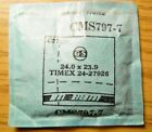 TIMEX 24-27926 Factory Replacement Watch Crystal GS CMS797-7 24.0 x 23.9 mm NOS