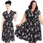 Hell Bunny Belleville Floral 50s 40s Dress Pin Up Rockabilly Swing Retro Vintage