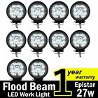 TMH® 27w Round Shape 60 Degree LED Work Light Flood Beam Spot Lamp Driving Jeep,