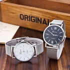 Fashion Casual Luxury Women's Men Stainless Steel Band Quartz Analog Wrist Watch