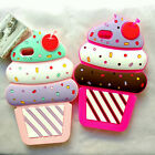 3D Cute Cartoon Cherry Cupcakes Ice Cream Shaped Silicone Case Bumper For Mobile