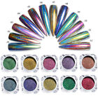 Peacock Holo Chameleon Nail Art Glitters Powder Mirror Laser Chrome Pigments DIY