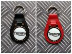 Triumph Motorcycle Resin Domed Bonded Leather Keyring Key Fob in 2 colours! £4.99 GBP