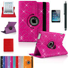 Leather 360 Degree Rotating Bling Smart Stand Case Cover For APPLE iPad Air 1,2