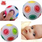 Magic Rainbow and White Spherical Ball Shaped Magic Cube Creative Puzzle Toy BH