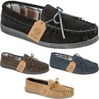 JO & JOE NEW ENGLAND MENS SUEDE LEATHER MOCCASIN SLIPPERS GOOD RUBBER SOLE NEW