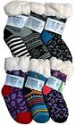 6 Pairs Kids Fleece-Lined Cozy Sherpa Fluffy Cloud Socks Size: One Size