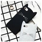 Cute Cartoon Beard Cat Designed Soft Gel Rubber Skin Protective Cover For Phones