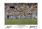 PELE AND GORDON BANKS 1970 WORLD CUP FINAL GREATEST SAVE EVER SIGNED FOTO PRINTS