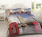 LUXURY LONDON DUVET COVER WITH PILLOW CASES Set DOUBLE KING SUPER KING Size New